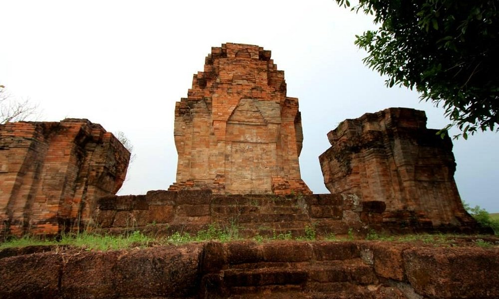 One of the prangs of the Khmer Temple