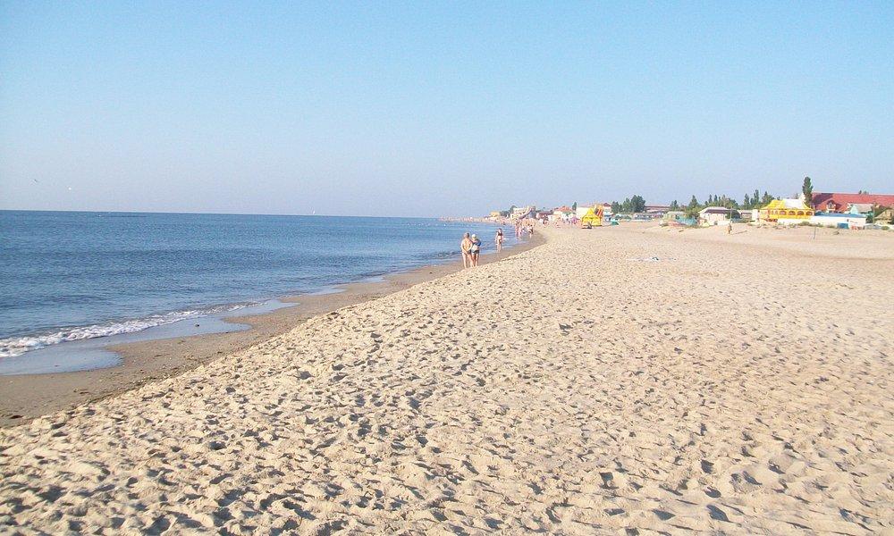 Пляж на Затоке