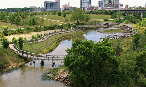 View of the park from the bridge