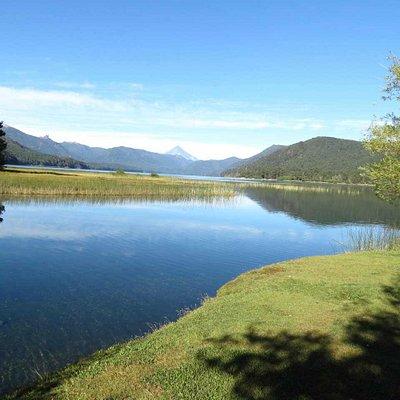 Vista del lago Quillén