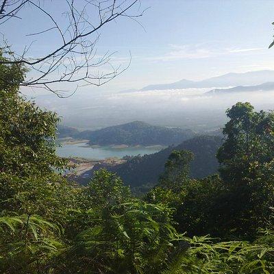 Mengkuang dam view from tar road hike.