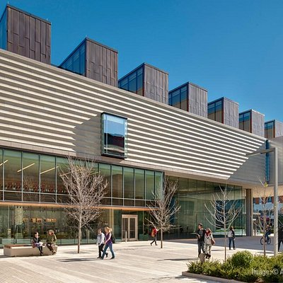The new 86,000-square-foot expansion designed by Machado and Silvetti Associates in October 2011