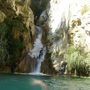 Descenso de barranco Río Verde - tobogán