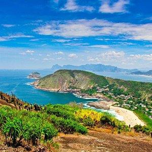 Vista do topo do Costão de Itacoatiara.