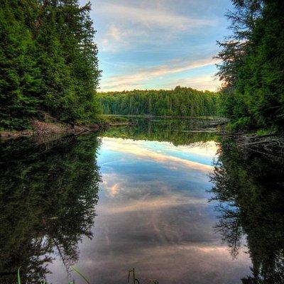 Sunset over Jack Lake