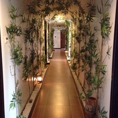 Hallway to spa rooms