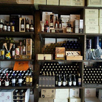 Unique wine selection.
