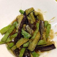 Eggplant and Green Beans.......amazing.