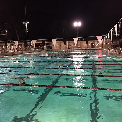 Competition Pool in the evening.