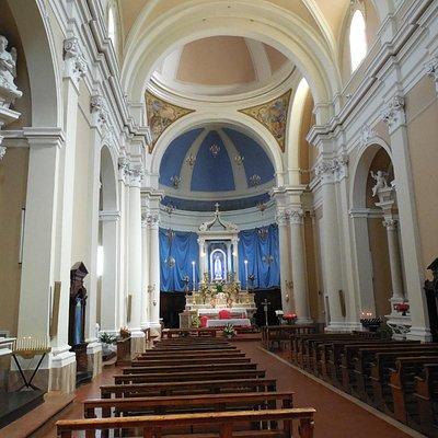 visione della Chiesa dall'entrata