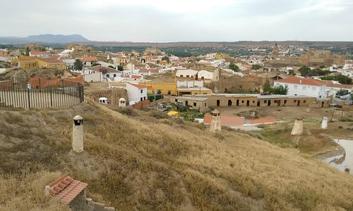 View from top, as the houses are underground, only chimea are visible