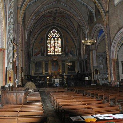 Inside view church.