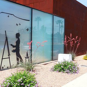 Mesquite Fine Arts Gallery garden on Yucca Street