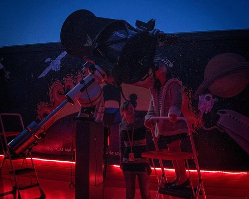 """Viewing through our 17"""" Reflecting Telescope"""