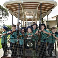 Come ride our tram! Popular with school and tour groups.