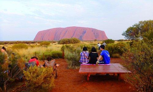 Sunset    Uluru-Kata Tjuta National Park   Parks Australia