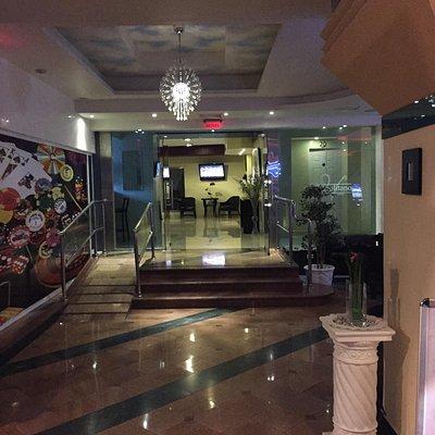 Hotel lobby corridor