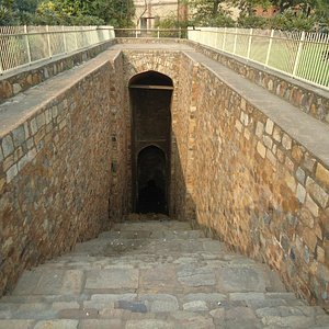 A view of the steps of baoli.