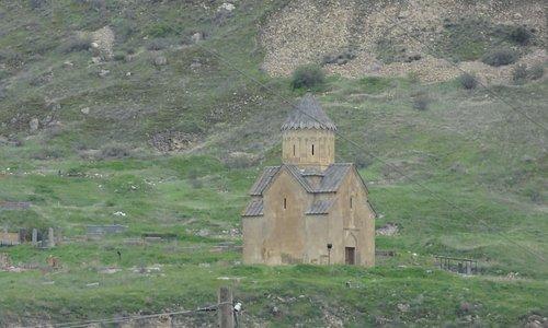 St. Astvatsatsin, seen from below (from the center of Areni village)