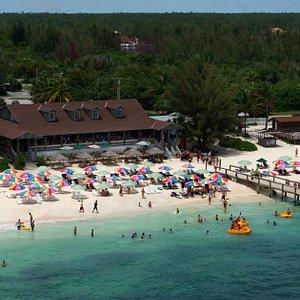 Aerial View of Junkanoo Beach Freeport