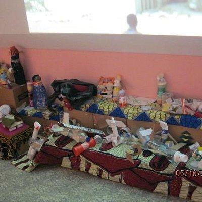 giocattoli realizzati con materiali riciclati