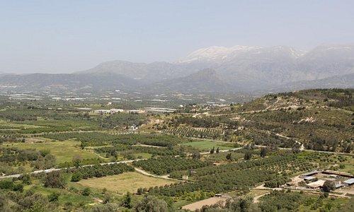View across valley towards Vori