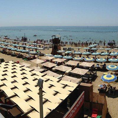 Spiaggia vista da sopra