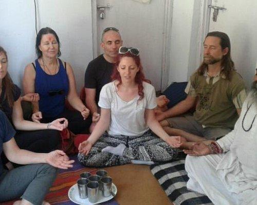 Meditation at Yogi Arwind Ashram Kunjapuri