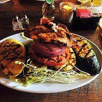 Fire Grilled Vegetables + Chicken