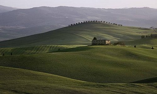 Landscape in Val d'Orcia near Pienza
