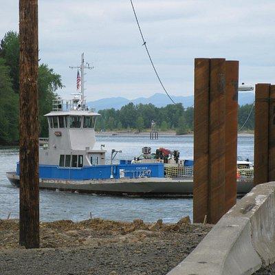 Ferry arriving, Westport