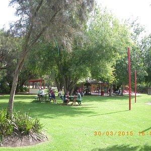 "nice garden area to enjoy Simmo""s ice cream"