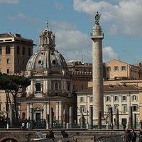 Basilica Ulpia in front of Trajan's Column