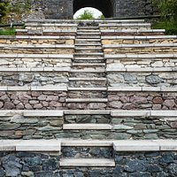 Geosteps, made using different stone from around the UK