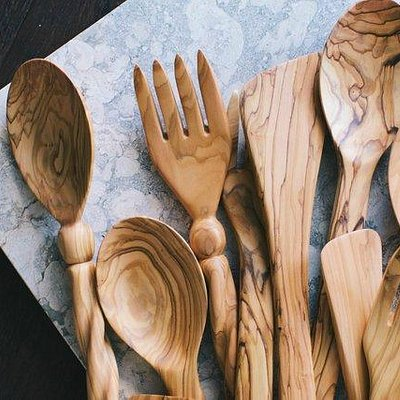 Olive wood kitchen items are strong, durable, and will last a lifetime.