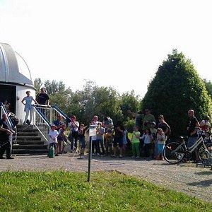 La cupola dell'osservatorio di San Giovanni in Persiceto in occasione di Costruiamo un missile 2