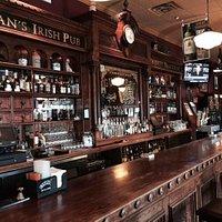 Bar area Keegan's Irish Pub