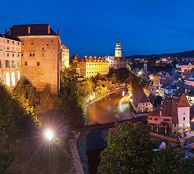 Cesky Krumlov Castle at Night