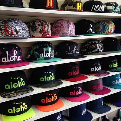Hats from Aloha and all kine brands!