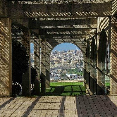 View of Jerusalem through doorway at BYU