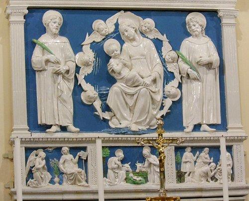 terracotta invetriata altare - della robbia