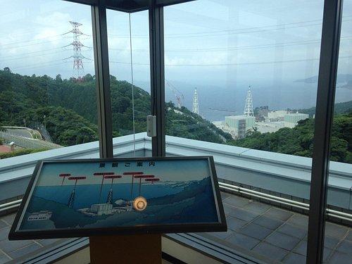 島根原子力館から見る原子力発電所