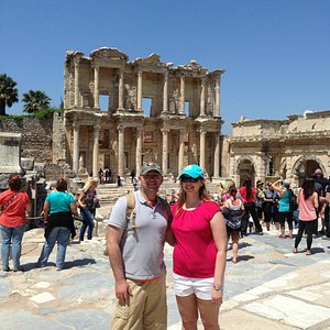 Guide took our picture many times at Ephesus