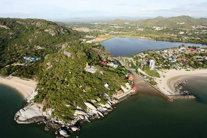 Aerial pic showing inlet & hillside