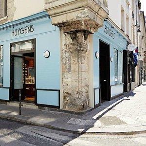 facade bleu art nouveau