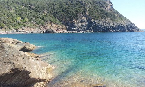 l'accesso al mare a Calafuria -Sassoscritto