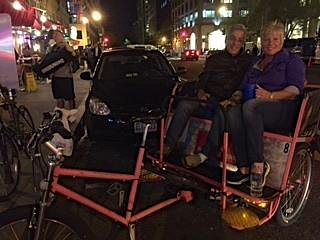 On our pedicab ride!