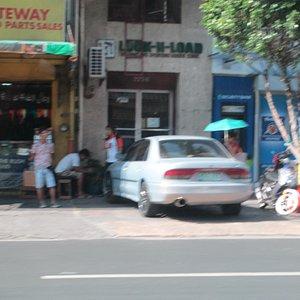 Gun shop next to a bank, not ideal!