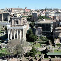 Antoninus and Faustina Temple seen from Palatine Hill
