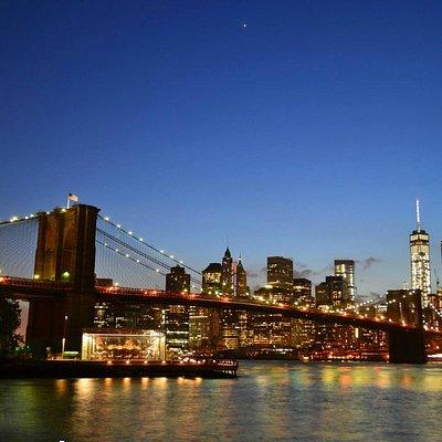 Brooklyn Bridge from Empire Fulton Ferry Park